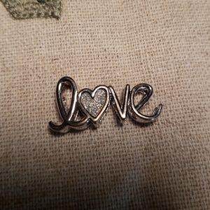 Origami Owl Bracelet Slide in LOVE